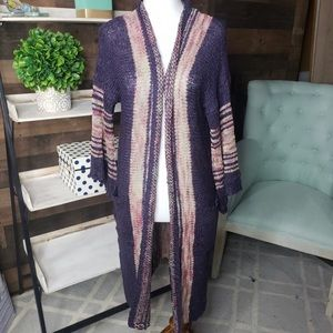 Easel M/L Boho Sweater Purple New